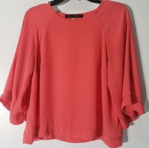 Rose and Olive 3/4 Sleeve Blouse Size S
